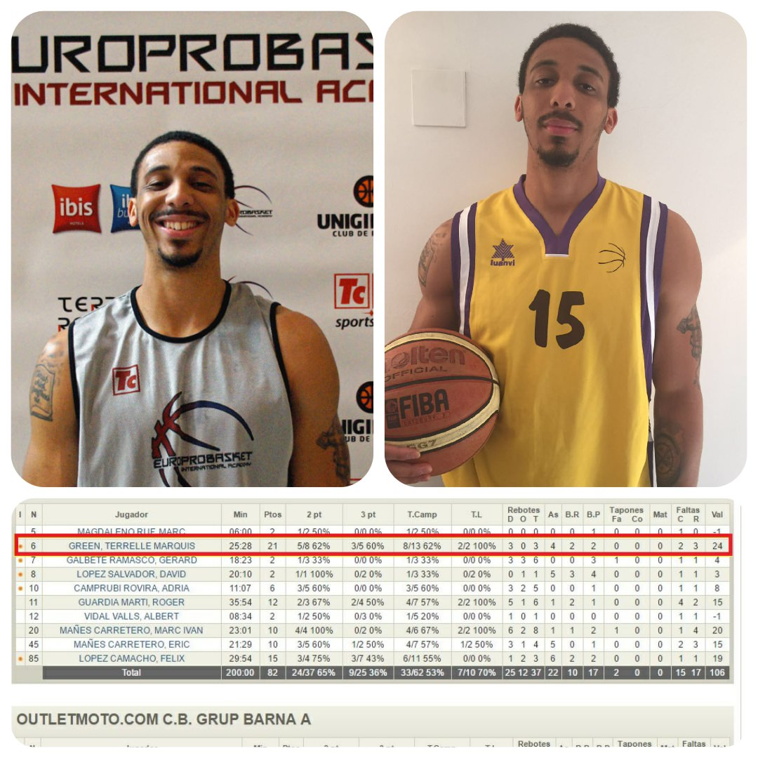 Europrobasket Player Terrelle Green with 21pts!