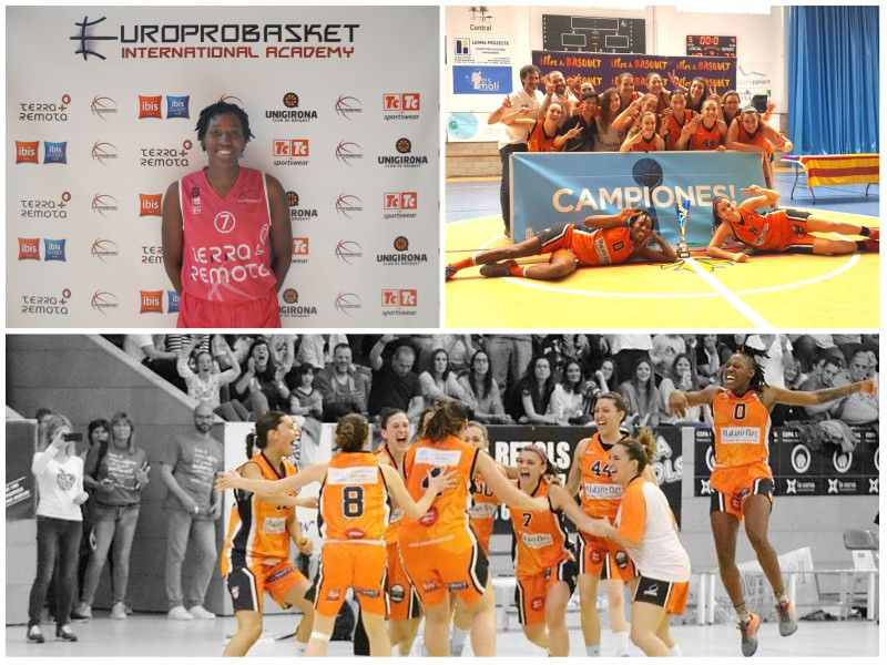 Europrobasket Player Judy Jones wins Championship, team moves up to Liga Feminina 2 ??!