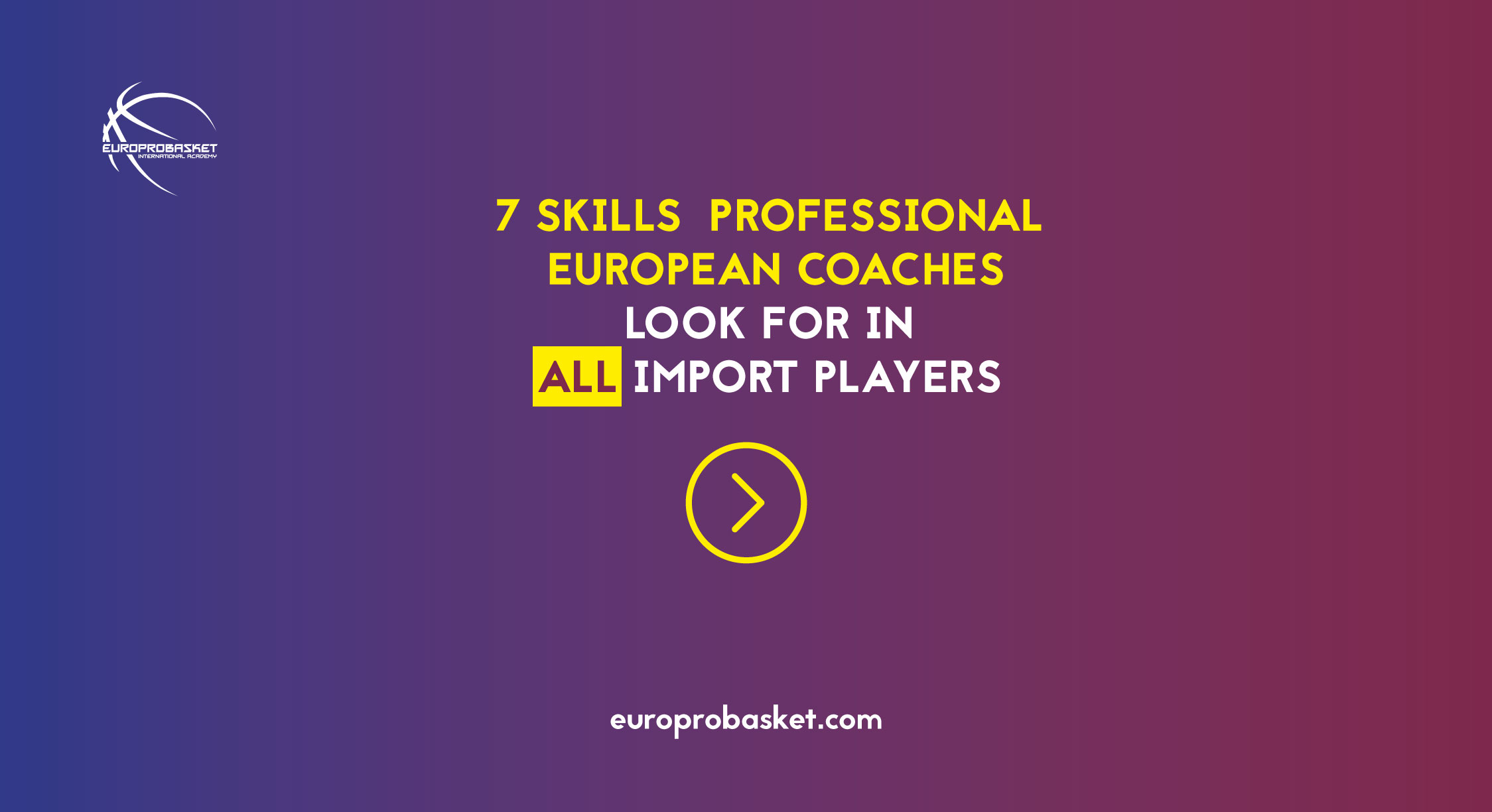 7 skills all import players should have