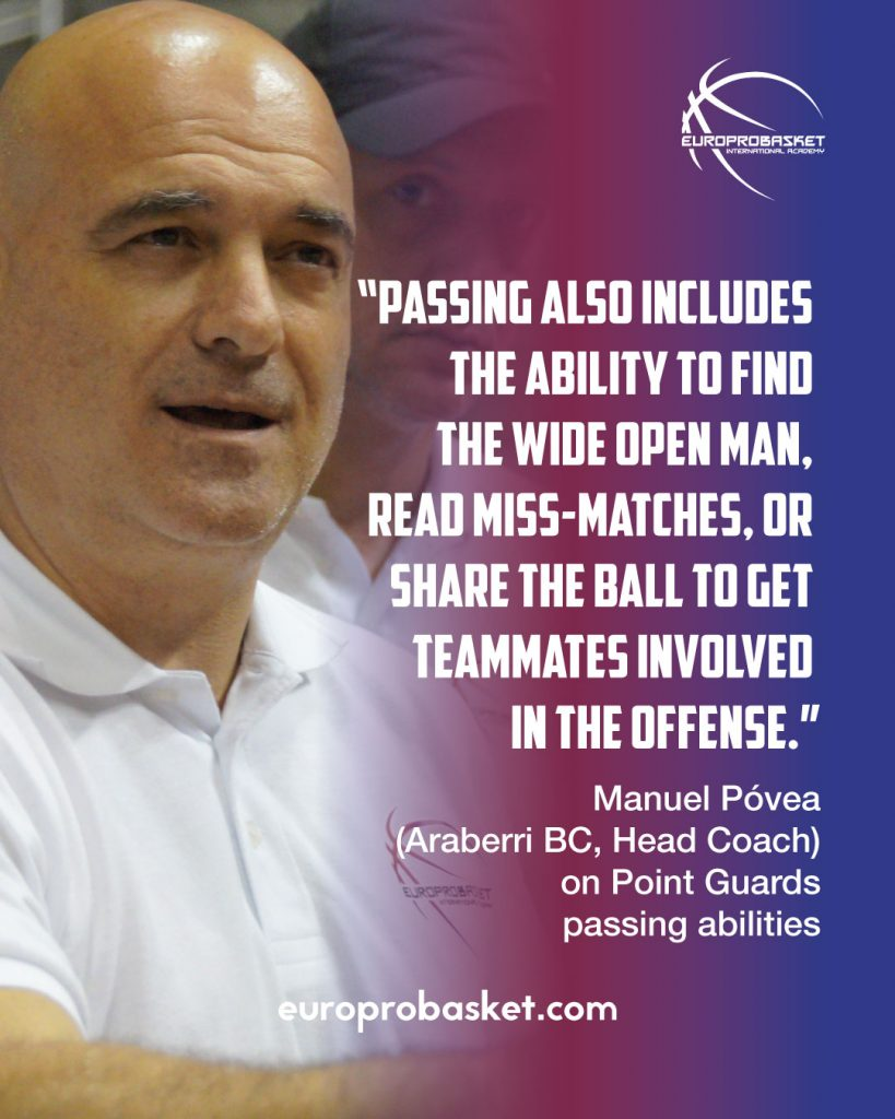 manuel povea on passing in point guards