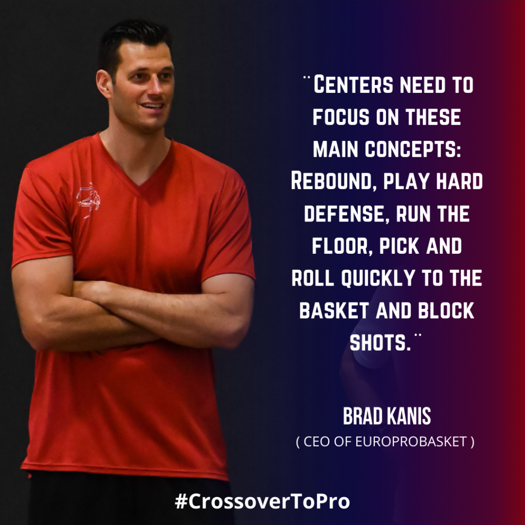 Brad Kanis speaks about the european center position in basketball