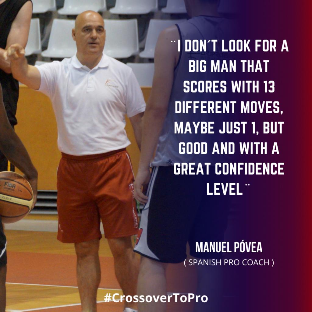 Manolo Povea talks about the european center position in basketball