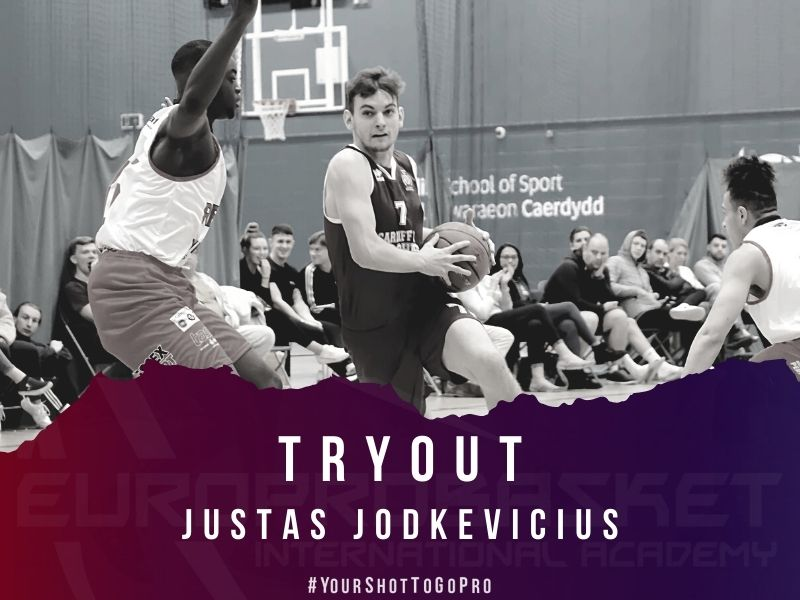 Justas Jodkevicius on a tryout in Spain