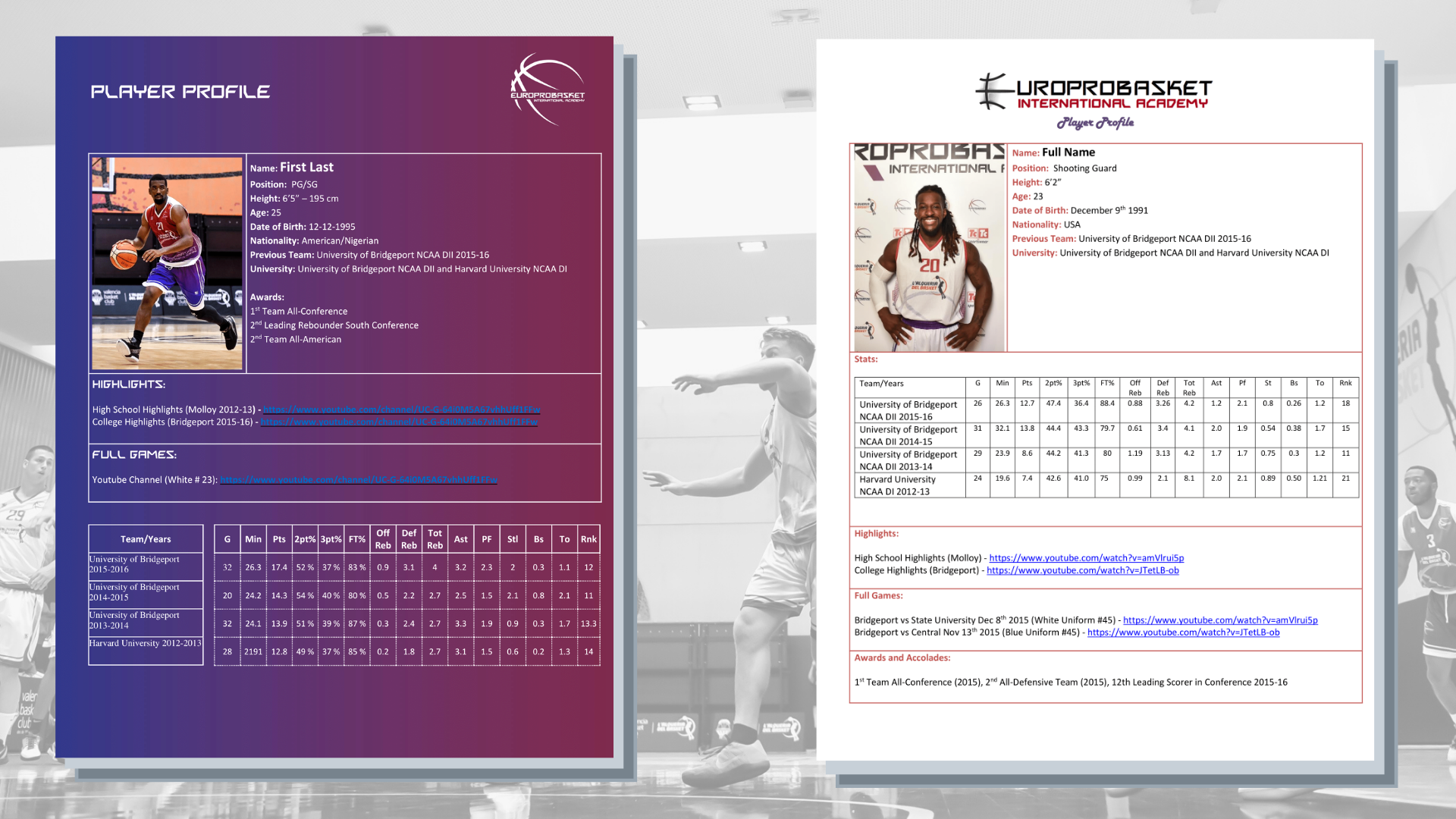 How to make a basketball resume examples