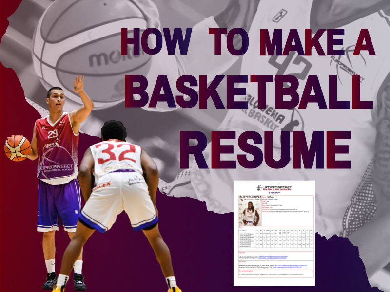 How to Make a Basketball Resume